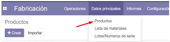 Guía rápida de MRP Odoo: Módulo de Fabricación.